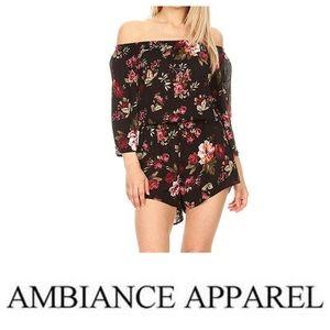 Ambiance Off The Shoulder Floral Medium Romper